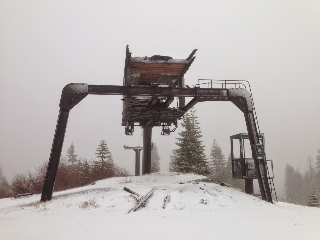 abandoned iron mountain ski resort near sly park lake -