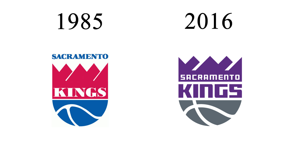 Sacramento Kings Logo Design 1985 - 2016